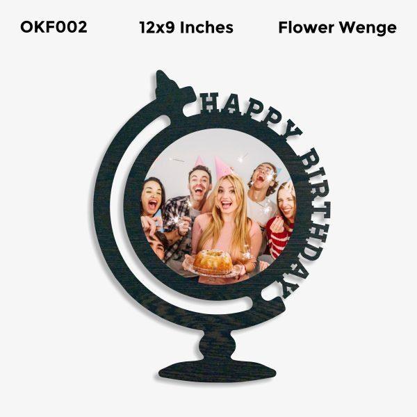 Happy BIrthday OKF002 Flower Wenge