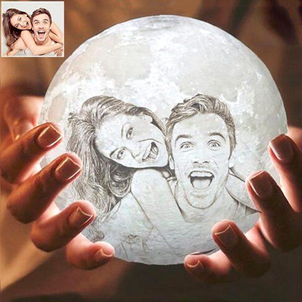 3D Printed Photo Moon Lamp