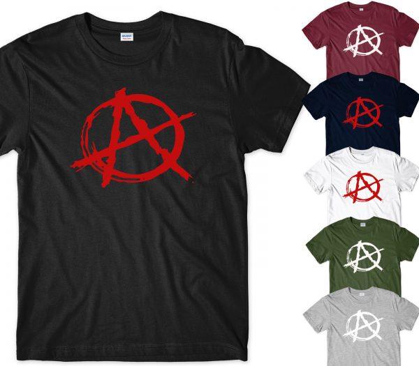 anarchy logo graphics printed t shirt