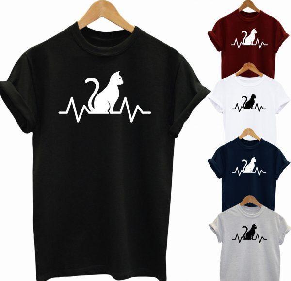 Cat Is My Heart Beat T Shirt