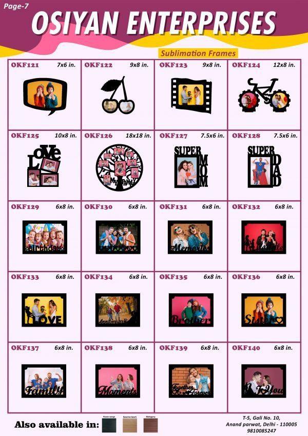 sublimation frame catalog 3