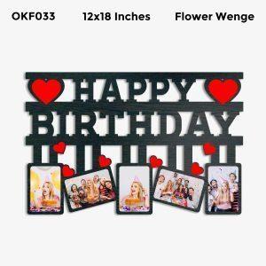 Best Personalized Happy Birthday Photo Frame OKF033