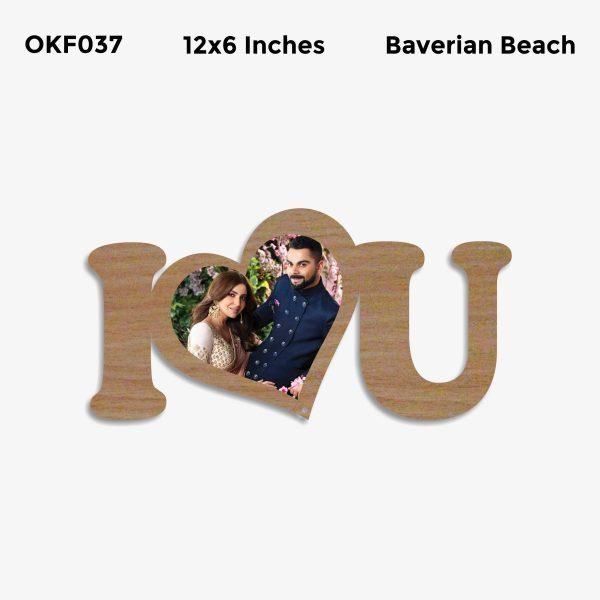 I Love You Photo Frame OKF037