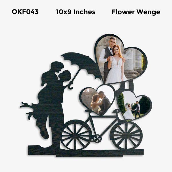 Personalized Couple Cycle Photo Frame OKF043