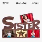 Personalized Sister Photo Frame OKF048