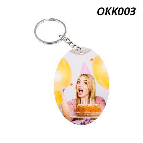 Wooden Keychain Oval OKK03