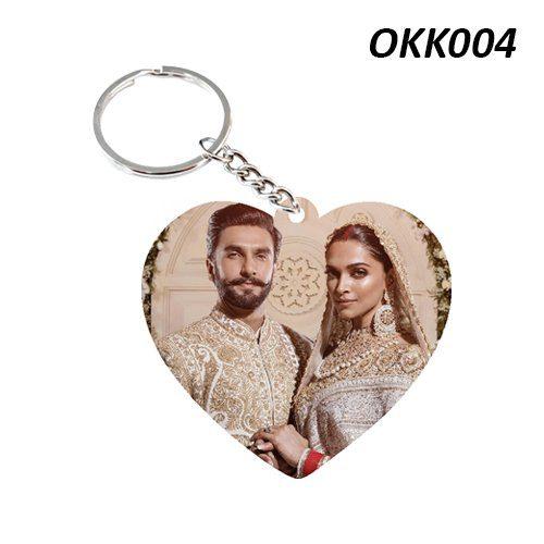 Wooden Keychain Heart OKK04