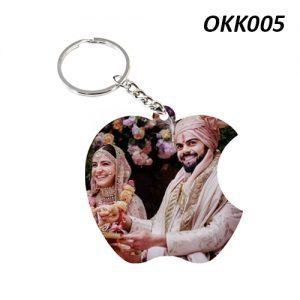 Free Ship Buy Custom Wooden Keychain Apple OKK05