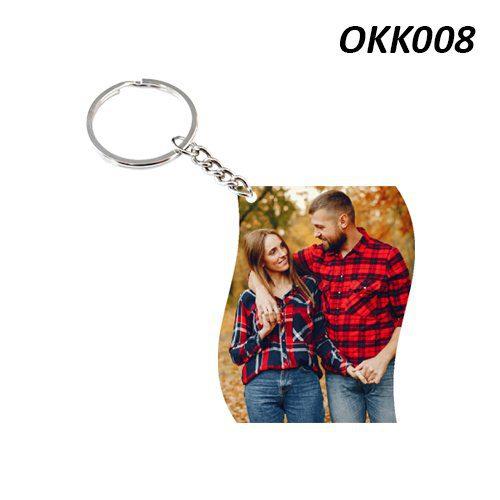 Wooden Keychain Rectangle OKK08