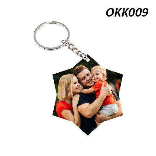 Wooden Keychain Star OKK09