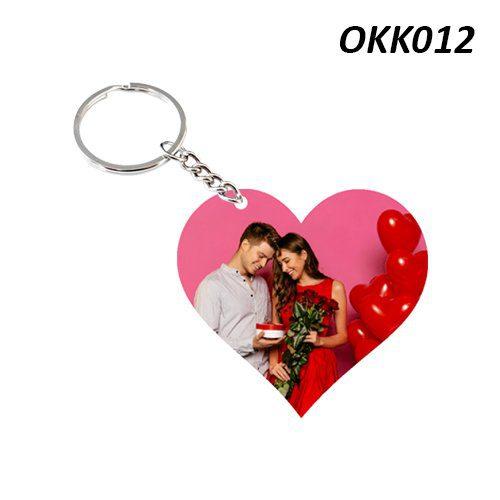 Wooden Keychain Heart OKK12