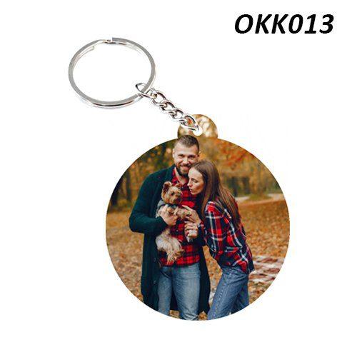 Wooden Keychain Round OKK13