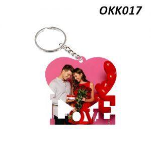 Free Ship Buy Custom Wooden Keychain Love OKK17