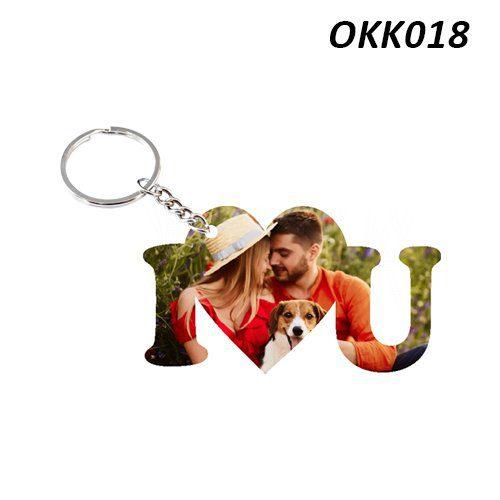 Wooden Keychain I Love You OKK18