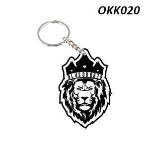 Free Ship Buy Custom Wooden Keychain Lion OKK20