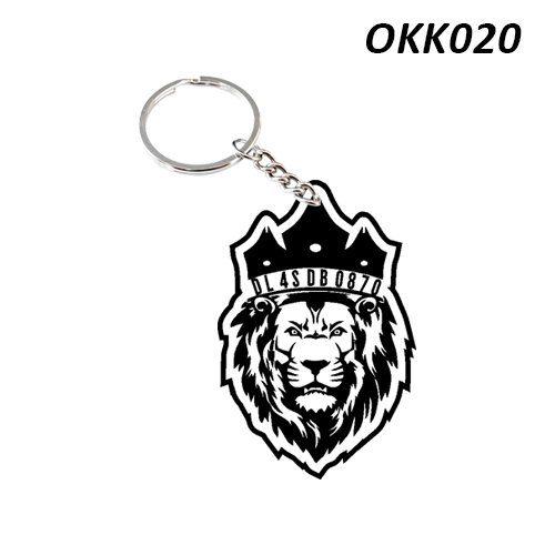 Wooden Keychain Lion OKK20