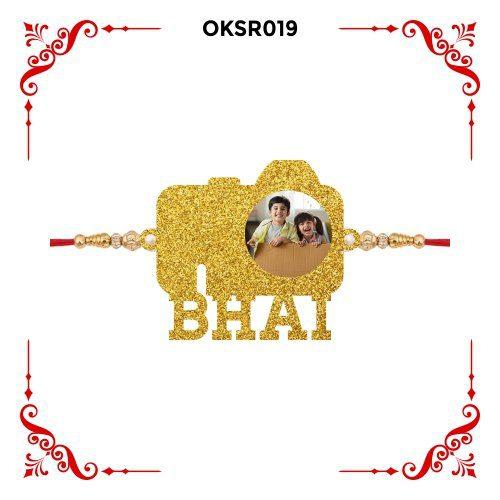 Personalized Camera Bhai Text Photo Rakhi OKSR019