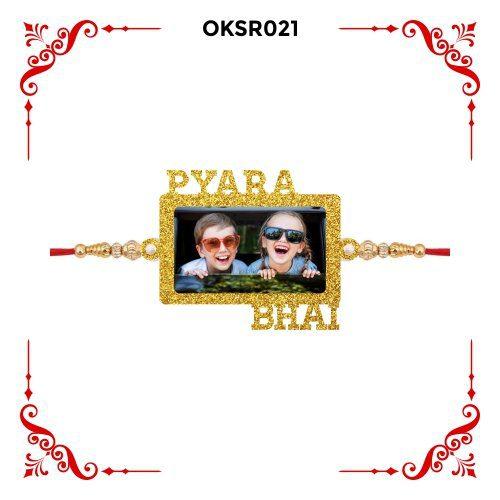 Personalized Pyara Bhai Photo Rakhi OKSR021