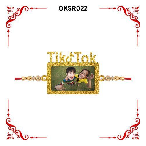 Personalized Tiktok Bhai Photo Rakhi OKSR022