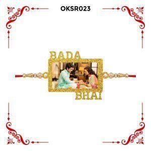 Best Personalized Bada Bhai Photo Rakhi OKSR023