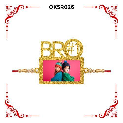 Personalized Bro Number 1 Photo Rakhi OKSR26