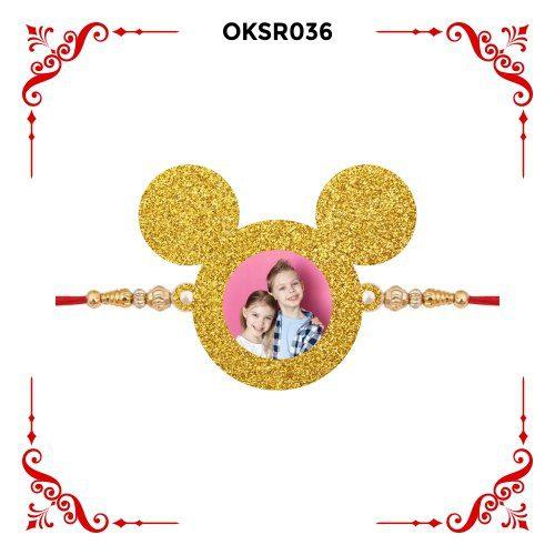 Personalized Mickey Mouse Photo Rakhi OKSR36