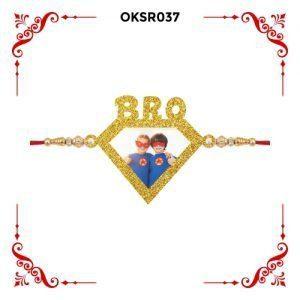 Best Personalized Super Bro Photo Rakhi OKSR37