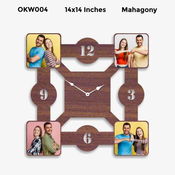 Designer Square Personalized Clock OKW004