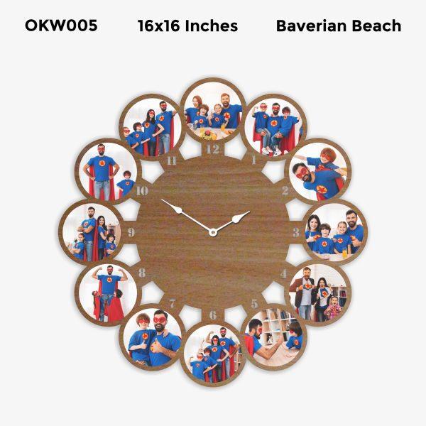 Round Personalized Clock OKW005