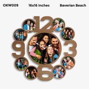 Buy Best 9 Photo Designer Personalized Clock OKW009