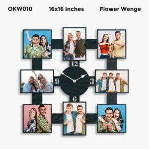 Buy Best 9 Photo Designer Personalized Clock OKW010