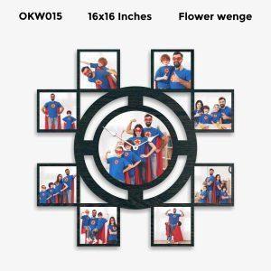 Buy Best 9 Photo Designer Personalized Clock OKW015