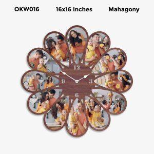 Buy Best 12 Photo Designer Personalized Clock OKW016