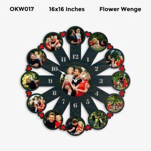 Buy Best 12 Photo Designer Personalized Clock OKW017