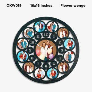 Buy Best 12 Photo Designer Personalized Clock OKW019