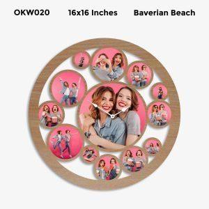 Buy Best 12 Photo Designer Personalized Clock OKW020