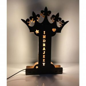 Alphabetic Wooden LED Name Board