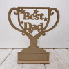 Fathers Day Special Trophy Best dad Engraved
