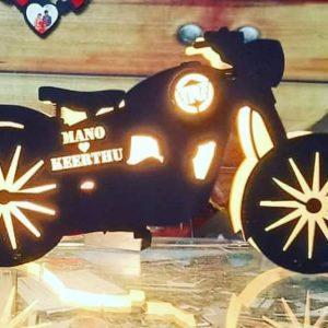 Buy Best Wooden Bike LED Name Board OKWL01