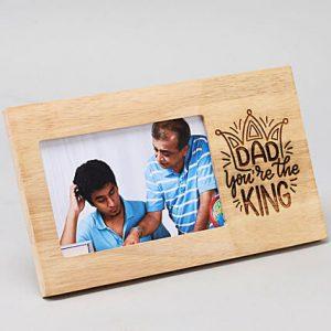 King Dad Engraved Photo Frame