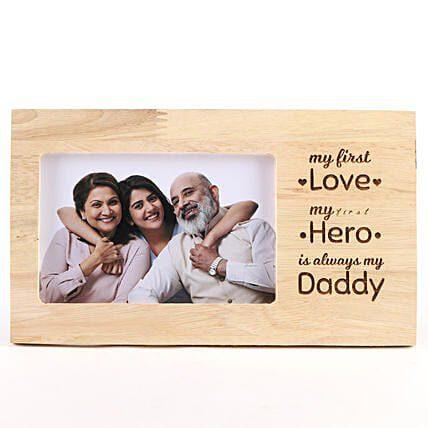 My Daddy My Hero Personalized Photo Frame