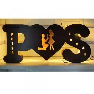 Buy Best Couple Wooden LED Name Board 2020