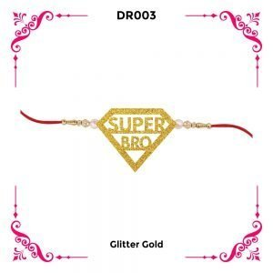 Best Super Bro Designer Rakhi DR02